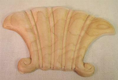 6 Wood Carved Decorative Embellishments Furniture Hardware Parts and Pieces