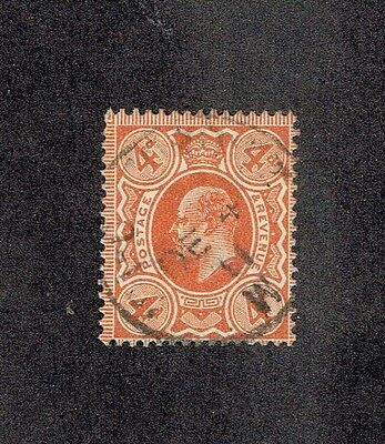 GREAT BRITAIN 144, 1910 4p EDWARD VII, USED (ID2823)