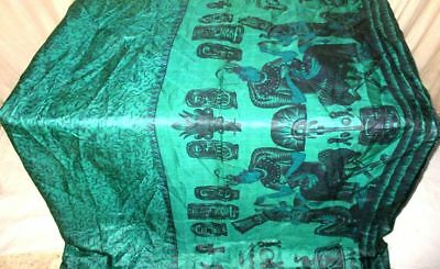 Pck Green Black Pure Silk 4 yard Vintage Sari Saree SALE DEAL London Ebay #G4CFA