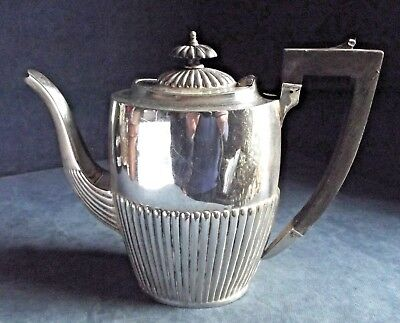 SUPERB ~ Q.Anne Style ~ SILVER Plated ~ Fluted TEAPOT ~ c1900 by James Benson