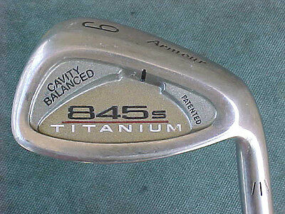 Tommy Armour 845s Titanium Golf Club used Single 9 Iron w S Flex Steel Flat Lie