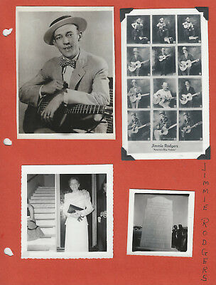 Jimmie Rodgers 4 Photos Johny Rodriguez 8x10 + Jesse Rodgers - Grand Ole Opry