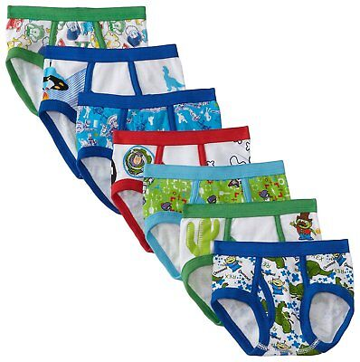 Handcraft Little Boys Toy Story 7 Pack Brief, Multi, 2T/3T