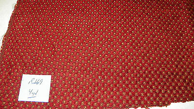 Red Gold Dot Print Chenille Upholstery Fabric 1 Yard F847 39 95