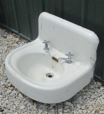 Antique Porcelain Bathroom Lavatory Kitchen Sink Cast Iron Farm Pantry Doctor e