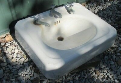 Antique Porcelain Bathroom Lavatory Kitchen Sink Cast Iron Farm Pantry Doctor f