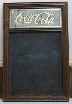 """Coca-Cola Wood Framed Sign & Chalk Board 31-1/2"""" By 20-3/4"""""""