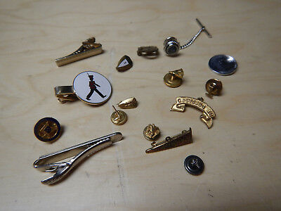 Vintage Masonic And Other Pins Tie Clips Free Mason Penny 1948