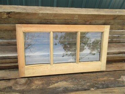 Old Wood Transom Window Glass Pane Vintage Architectural Salvage 28 x 15 a17