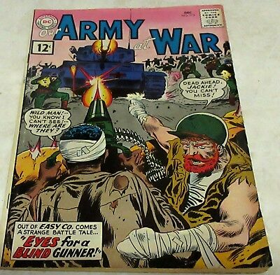 Our Army at War 113 (FN+ 6.5) 1961 1st Jackie Johnson & Wildman 40% off Guide!