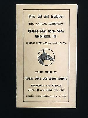 Prize List and Invitation PONY Charles Town Horse Show Inc 1960 Jefferson Co WV