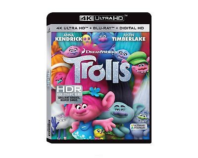 Trolls (4K Ultra HD, 2017, 2-Disc Set, Includes Digital Copy Blu-ray)