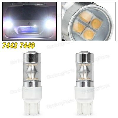 1SET 7443 7440 Backup Light 2828-Chip 100W 7505 Reverse Lamps Cool White Led