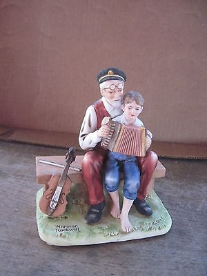 """1980 Norman Rockwell Figure..""""The Music Lesson""""..Dist. by NR Museum..Gd.Cond."""