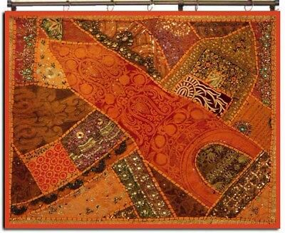"""34"""" Huge Crazy Vintage Wall Décor Indian Tapestry Hanging Antique Sari Throw"""