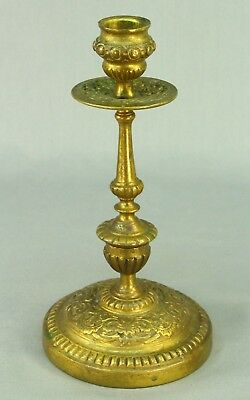 ! Antique 1800's Bronze Dore' Ornate Candle Holder Candleholder