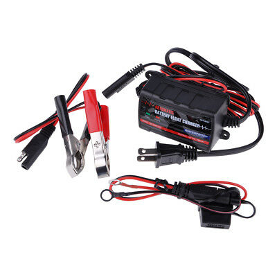 12V 5A Automatic Smart Car Battery Charger Maintainer for Lead Acid AGM/GEL/WET