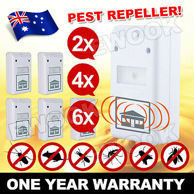 2~6X RIDDEX Plus Pest Repeller Ultrasonic Electronic Rat Mosquito Rodent Control