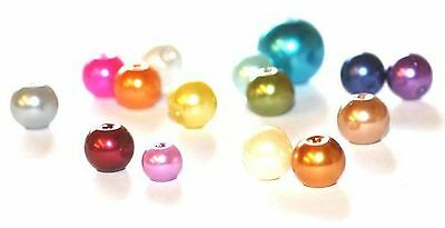 Glass Pearl Craft Beads - Various Colours And Sizes Available