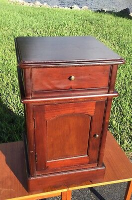 VinTagE ANTIQUE MAHOGANY ONE DRAWER / DOOR / NIGHTSTAND / CABINET