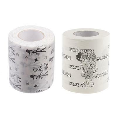 2 ROLLS BRIDE Groom Toilet Paper Sexy Bathroom Tissue Roll Hen Party Adults