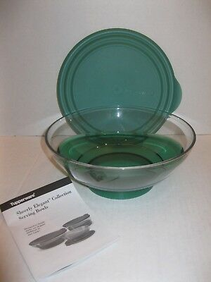 Tupperware ~ Sheerly Elegant Acrylic 1.5 L Serving Bowl ~ Green 6 1/3 Cup ~ New