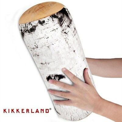Birch Log Pillow Micro Bead Head Cushion Comfy Travel Pillow By Kikkerland