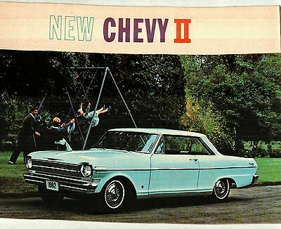 1962 Chevrolet Chevy 11 & Nova Color Sales Catalog