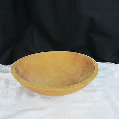 Vintage Large Round Primitive Wood  Bowl