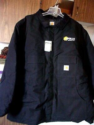 Carhartt, Black Canvas, Quilt Lined Long Jacket, Size: 3Xl Tall, Nwts