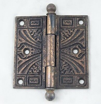 Antique Victorian Ball Tipped Door Hinge