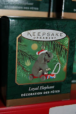 Hallmark 2000 Loyal Elephant Republican Miniature MINI Ornament trump cruz bush