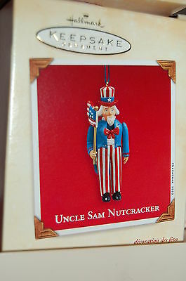 Hallmark 2003 Uncle Sam Nutcracker Patriotic Ornament USA American Flag
