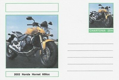 CINDERELLA 7246 - MOTORCYCLES - HONDA HORNET on Fantasy Postal Stationery card