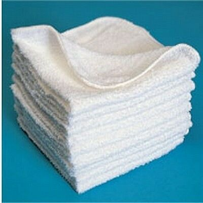 Wholesale Budget White Face Cloths 30x30cm Hotel B&B Guest House Beauty 28g