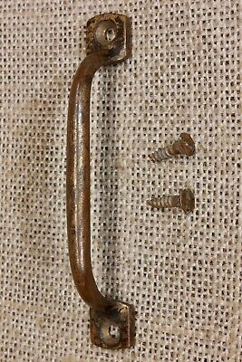 "Door Pull 3 5/8"" drawer handle old tarnished BRASS rustic vintage Screen cabinet"
