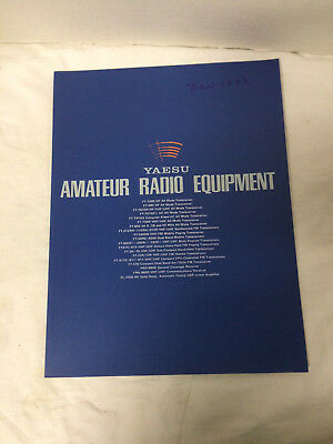 Yaesu Amateur Radio Equipment Catalog VIntage 1983 - nice 49 pages
