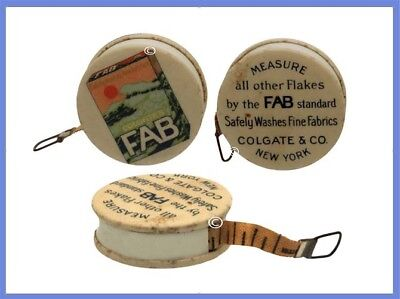 """Advertising Sewing Tape Measure """"FAB"""" *C.1920s"""