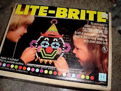 LAST 1 Vintage 1981 Hasbro WORKING Lite-Brite Light Bright w/Extra Pegs Pictures