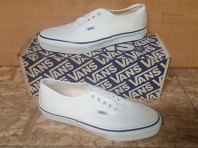 dcfc84face Vintage Vans AUTHENTIC Shoes WHITE made in USA Men s Size 7.5 NIB NOS 80s  90s