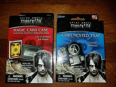 Criss Angel Mind Freak Magic Card Case and Coin Nested Trap