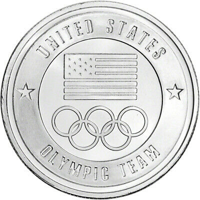 1 oz. Silver Round - United States Olympic Committee Team USA - .999 Fine