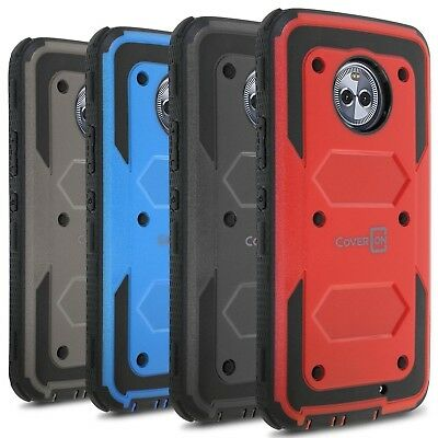 CoverON For Motorola Moto X4 (X 4th Gen) Case [Tank Series] Hard Hybrid Cover