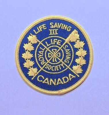 ROYAL SOCIETY LIFE SAVING III Patch Badge CANADA
