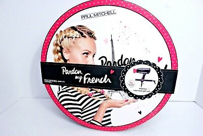 NEW! Paul Mitchell PARDON MY FRENCH Travel Dryer and Smoothing Iron Tool Set