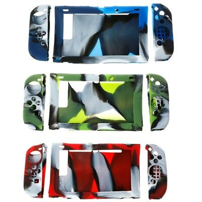 Camouflage Silicone Protector Case Cover LR For Nintendo Switch Host Controller