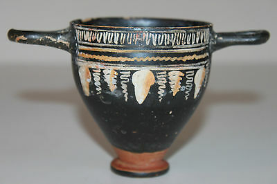 QUALITY ANCIENT SKYPHOS GREEK POTTERY 4th BC WINE CUP