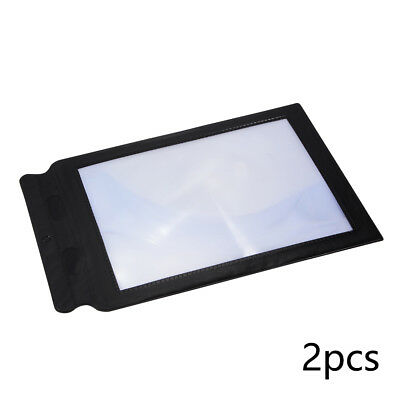 2x Magnifying Full Page 3X Magnifier A4 Sheet Book Paper Reading Aid Lens FA320