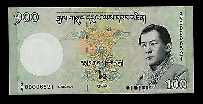 Bhutan Replacement 100 Ngultrum 2006 Pick  # 33 Xf Banknote.