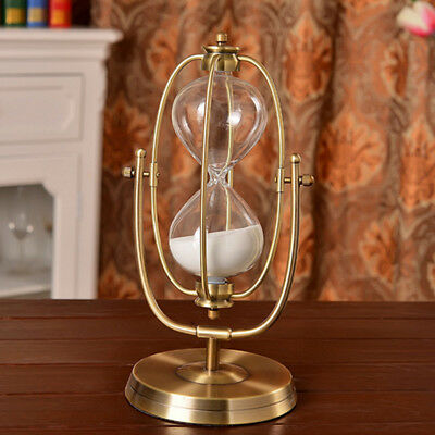 30 Minute Rolating Sand Hourglass Sandglass Sand Timer Clock Home Decor Gift